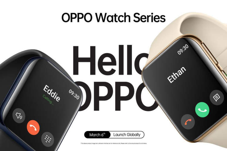 Oppo's new smartwatch looks just like the Apple Watch